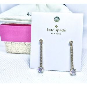 Kate Spade Gold  Irridescent Crystal  Earrings ♠️